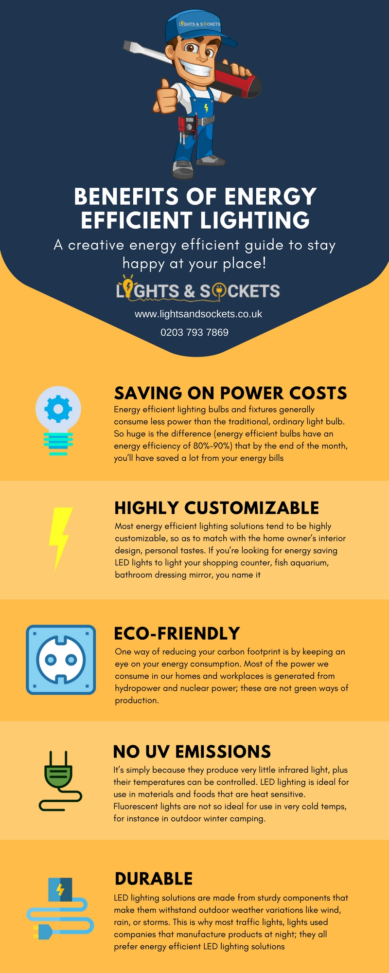 benefits of energy efficient lighting lights and sockets uk